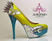 STUDIO JELLYFISH HAND PAINTED HEELS