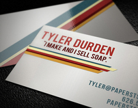 Retro Stripe Business card