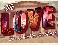 The Franklin Institute Tourist Thank You Postcards
