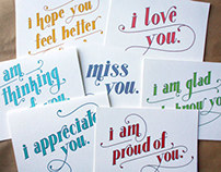 Sentiment Greeting Cards