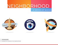NEIGHBORHOOD - a series of badges