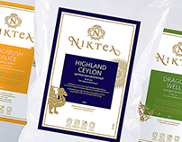«Niktea» package design.