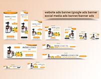 Google ads banner, social media banner and website ads