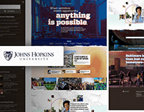 University Website design - Johns Hopkins