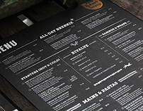 The House of Robert Timms New Menu Design 2014