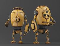 Yellow Corrosion Robot