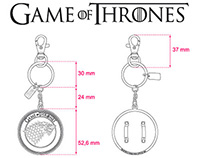 """Game of Throne"" keyrings"