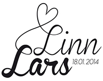 Linn & Lars wedding logo