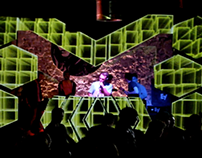 Video Mapping Stage Design Vomitaizer Fest