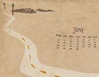 DesertFriends desktop calendar 2011