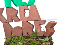 Papercraft lettering