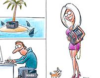 Server cartoons