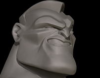 Cartoon 3D head.