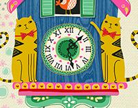 Cuckoo Clock Cats