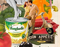 Bonduelle. Collage