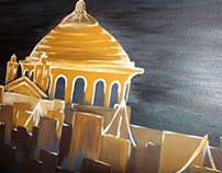 Mosta Dome, Malta - Acrylic Painting '14