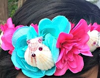 Seashell Floral Crown