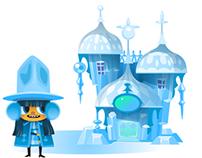 Character/environment designs app game Biztopia