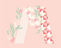 Disney Graphic T-Project . Floral Concept 01