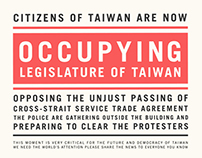 Occupying Legislature of Taiwan.