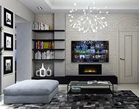Apartment in grey tones