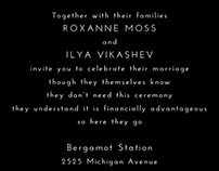 Wedding Invitations - Modern and Vintage