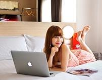 Japanese model Haruka for TUNE Hotels Asoke, BKK