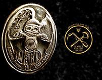 Brass pin A. Pashkevichius / Poshka in memory