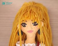 Cecilia. Handmade doll