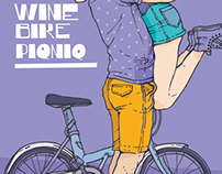 Wine Bike Piqniq posters
