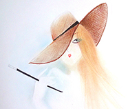 HAIR & HATS / ILLUSTRATION PAPIER
