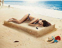 Lonas Mattresses Poster Summer Campaign 2014