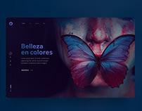 UI concept: Belleza en colores.