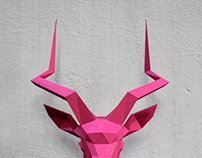 Papercraft impala head