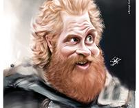 Digital caricature forKristofer Hivju (tormund actor