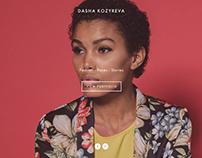 UX/UI/WEB for «Dasha Kozyreva» Moscow, Russia