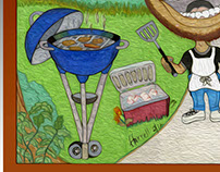 Culinary Illustration Color Print 11x17 $65.00