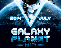 Galaxy Planet Party Flyer