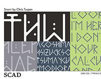Snorri (Typeface Design & Type Poster)
