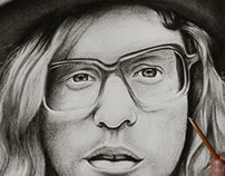 Allen Stone Charcoal Drawing