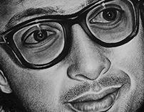 Jeff Goldblum Charcoal Drawing