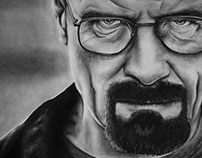 Walter White Charcoal Drawing