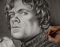 Tyrion Lannister Charcoal Drawing