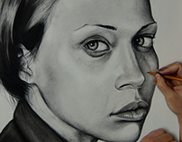 Fiona Apple Charcoal Drawing