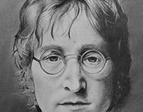 Jonn Lennon Graphite Drawing