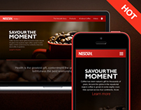 Nescafe's Website Design
