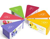 """ugo"" yogurt packaging design"