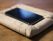 Concrete pillow for an iPhone
