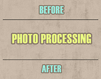 Photography and photo processing for furniture showroom