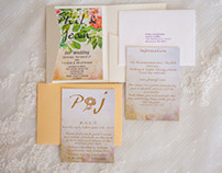 English Garden Wedding Invites